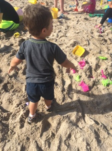 O loved the little beach they'd set up in the parking lot!