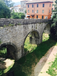 Bridge into old town Barga